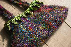 Fuji - Handbag Pattern (Knitting with Weaving)