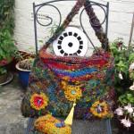 Teresa's bag made from sari yarn
