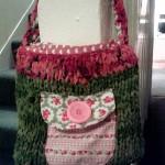 Silk Chiffon & Patchwork Handbag