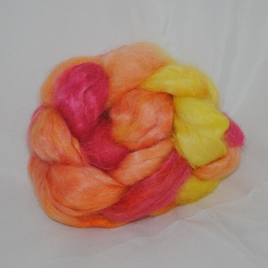 Kid Mohair Tops - Short Band - Red, Orange, Lemon