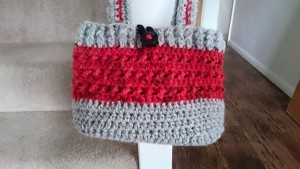 hearts and flowers - chunky bucket bag